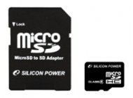 Silicon Power micro SDHC Card 32GB Class 6 + SD adapter