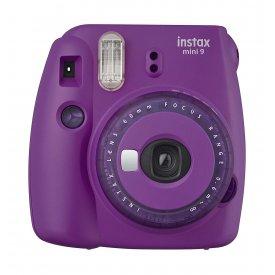 Фотоаппарат Fujifilm Instax Mini 9 Clear Purple (фиолетовый) в комплекте Фотопленка Fujifilm Instax Mini 10 шт