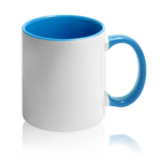 чашка с синей заливкой для фото