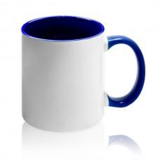 фото на темно-синей чашке