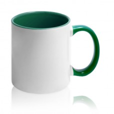чашка с зеленой заливкой для фото