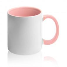 чашка с розовой заливкой для фото