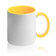 чашка с желтой заливкой для фото